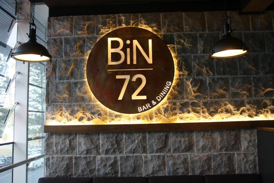 Bin 72 Flame wall