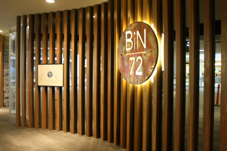 Bin 72 joinery theme wall