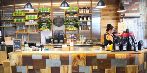 Flannery's Refuel Depot Front Counter - Robina - By Open  Projects - Gold Coast / Brisbane Shopfitting