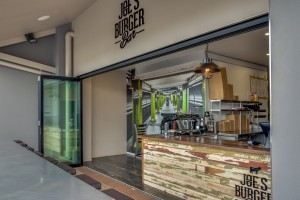 Joe's Burger Bar Entrance Hope Island - By Open Projects Group - Gold Coast / Brisbane Shopfitting